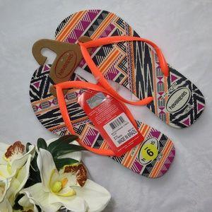 *NWT*   Havaianas Aztec Flip Flop Size US 9/10